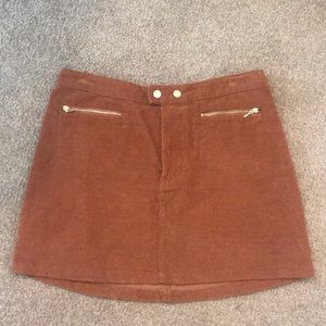 Rust Corduroy Abercrombie & Fitch skirt